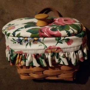 Basket with liner and lid